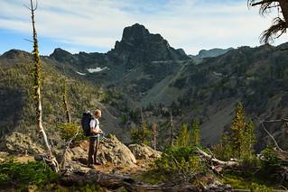 Dan standing at Goat Pass