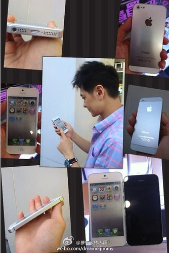 Leaked iPhone5 white