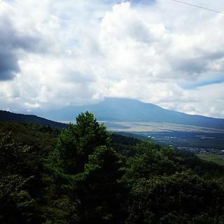 自走でここまでやってきました。残念ながら富士山拝めず(>_<)
