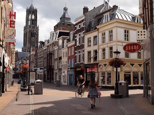 The deserted streets of Utrecht