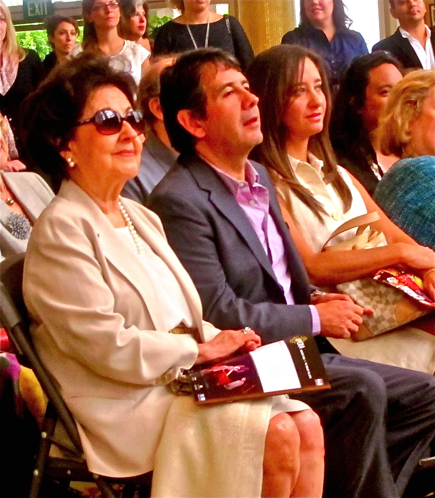 Placido's wife, Marta, and son Placido Jr.