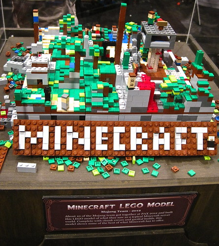 Minecraft Lego set at Pax Prime 2012