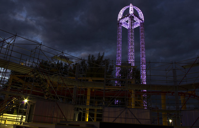 Power Tower at night