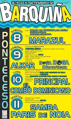 Ponteceso 2012 - Festas da Barquiña - cartel