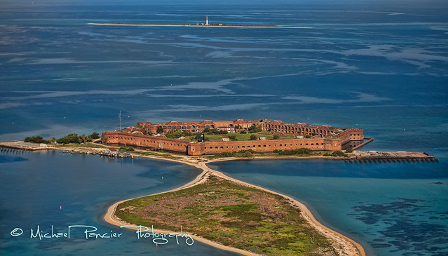 Aerial View of Fort Jefferson & Loggerhead Key