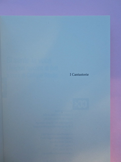 Si sente la voce. 8x8 / Oblique Studio. Carta Canta 2012. Pag. dell'occhielo (part.), 1