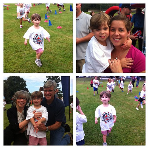 Fun morning at CMDS boosterthon!  Proud of my little runner.