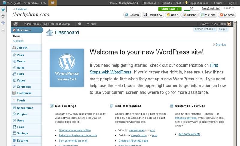 Quản lý nhiều blog WordPress cùng một lúc đơn giản với ManageWP 220