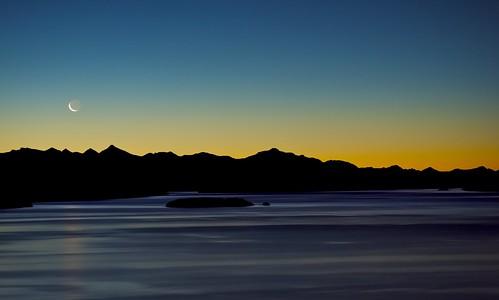 sunset sky patagonia moon lake mountains southamerica water argentina island andes bariloche sancarlosdebariloche nahuelhuapilake