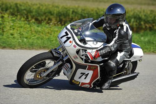 Slippery Sam Triumph motorcycle Schwanenstadt GP Austria Copyright 2012 B. Egger :: eu-moto images 1197