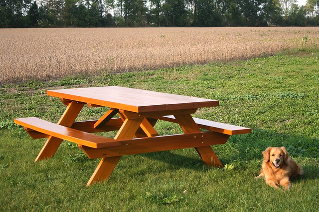 western red cedar picnic table