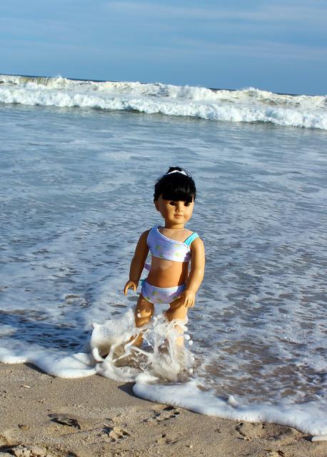 Summer & Inky at Jacob Riis Beach