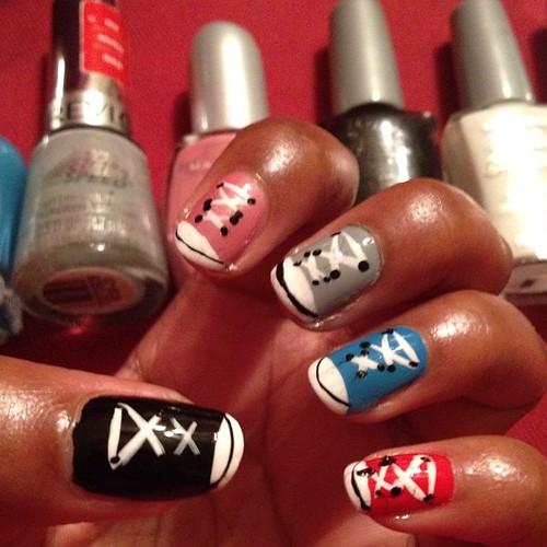 Converse nails!!