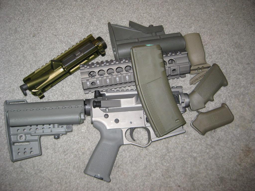 Midwest Industries OD Green Railed Handguards - AR15 COM