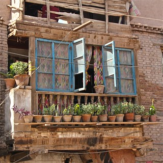 Old Kashgar window, Xinjiang