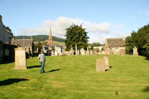 Searching for ancestors at Galashiels Cemetery