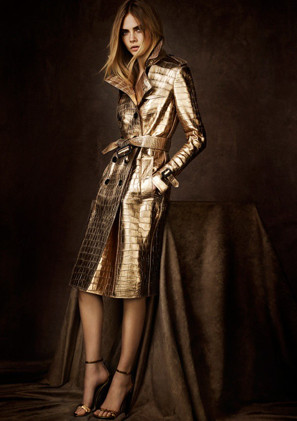 05 metallic crocodile trench coat