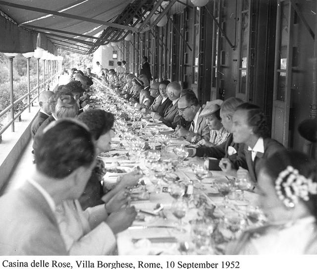 Banquet-Casina-delle-Rose-Rome-1952