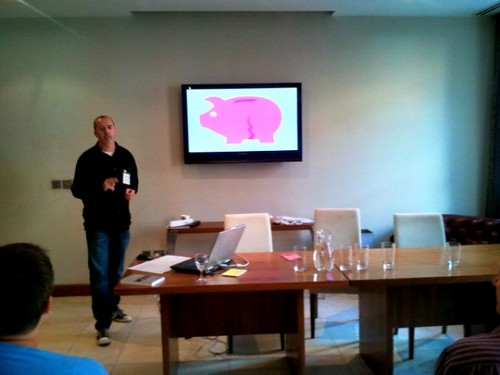 Paul Knott author of OUCH! workshop leader at Write on Finance Blog Up Leeds