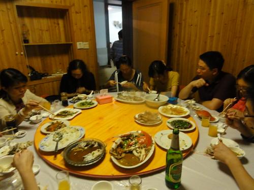 Big seafood dinner