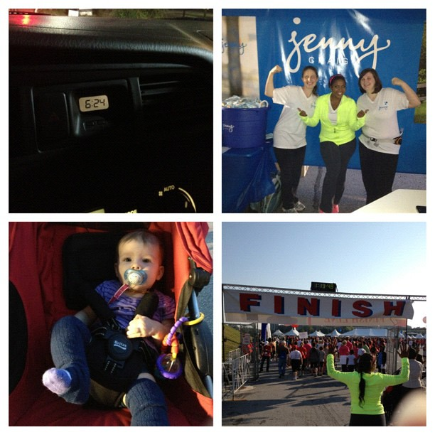 We were #up way too early this morning for the #atlheartwalk team @jennycraig.