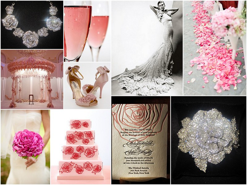 rose bridal jewelry, crystal rose bridal headpiece, rose bridal necklace