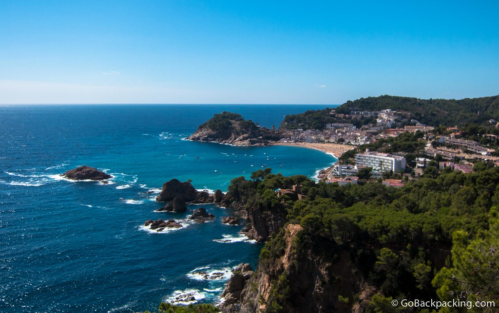 Tossa de Mar viewed from a distance