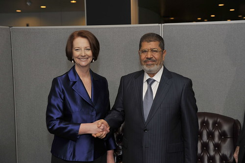 Bilateral meeting with President Morsi of Egypt