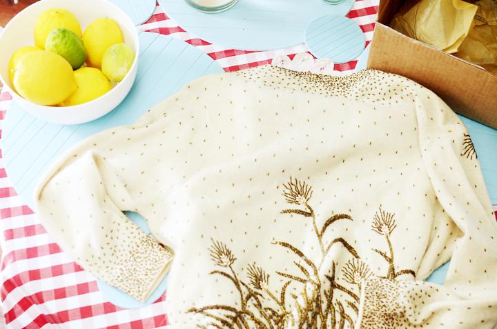 vintage cream cardigan d