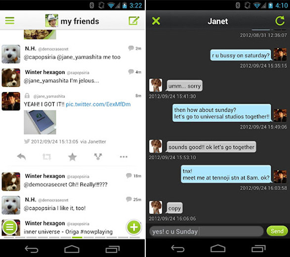 Janetter para Android - Nuevo cliente de Twitter