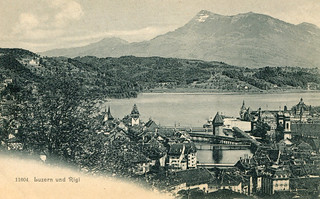 Lucerne and Rigi (Old Postcard)
