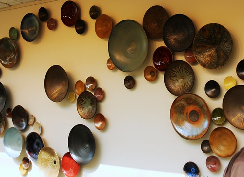 Ceramic Bowl Wall Installation by Jacob Grant