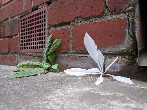 paper sculpture weed