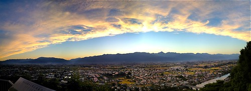 sunset panorama mountains alps japan matsumoto nagano 4s iphone japanesealps joyama alpspark