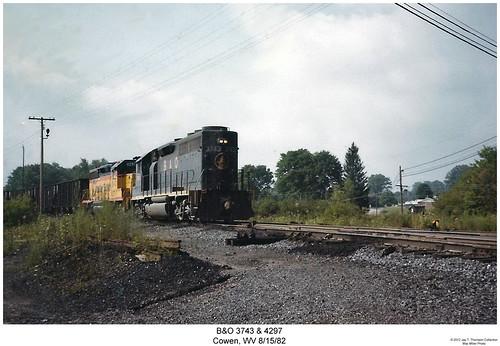 railroad train diesel railway trains westvirginia locomotive bo trainengine cowan geep emd baltimoreandohio gp402 gp40 fouraxle