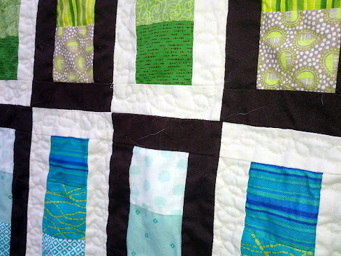 close up of quilting