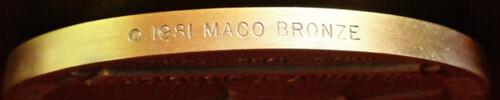 Medallic Art medal edge lettering 1981