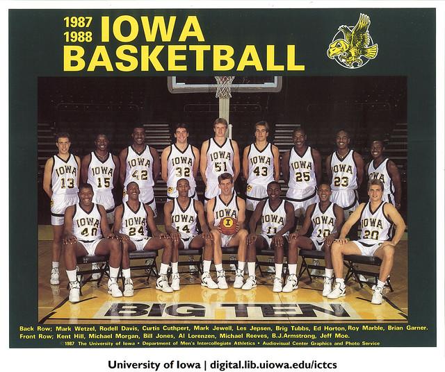 1987 1988 Iowa Basketball Team The University Of Iowa