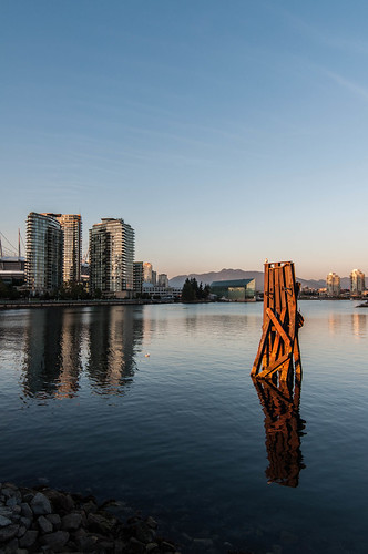 That weird bit of old dock something-or-other in False Creek