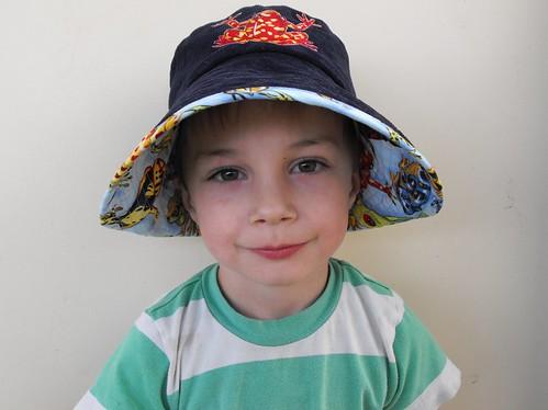Noah - frog hat