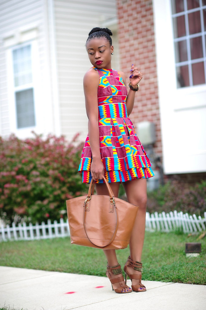 Ankara print, Zara bag, Aldo shoes by jadore-fashion.com
