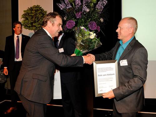 Uitreiking Eurekaprijs voor wetenschapscommunicatie 2012 aan Rob van Hattum