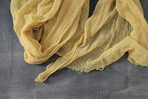 naturally dyed with yarrow