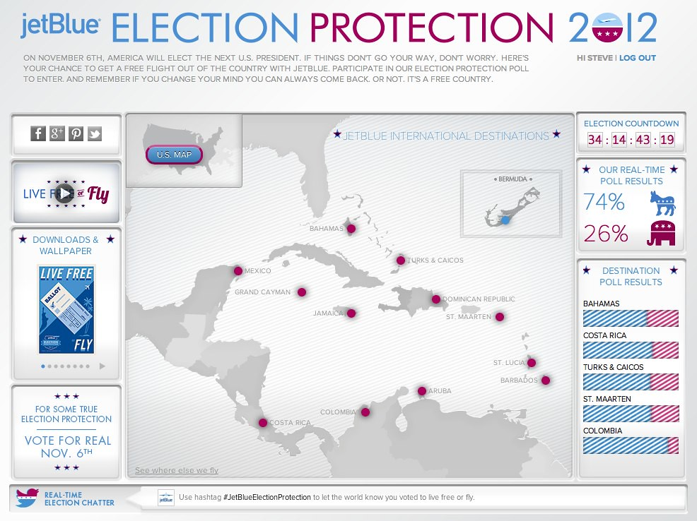 JetBlue presents - Election Protection 2012