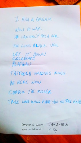 Setlists really should be written in Crayon