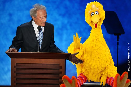 CLINT AND BIG BIRD by Colonel Flick