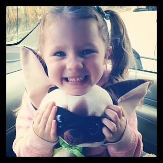 Emmy and #SkippyjonJones! The most prized possession from preschool. :-)