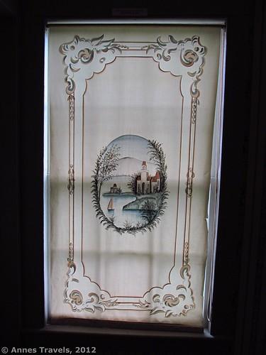 Windowshade in George Eastman's Boyhood Home, Genesee Country Village & Museum, Mumford, New York