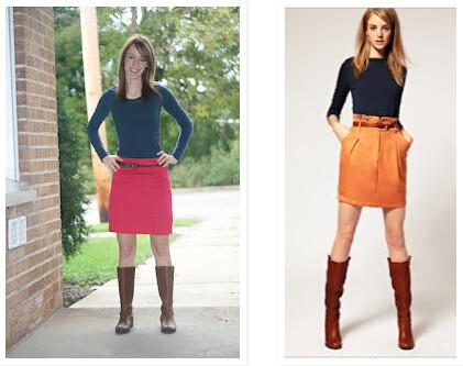 skirt belt boots