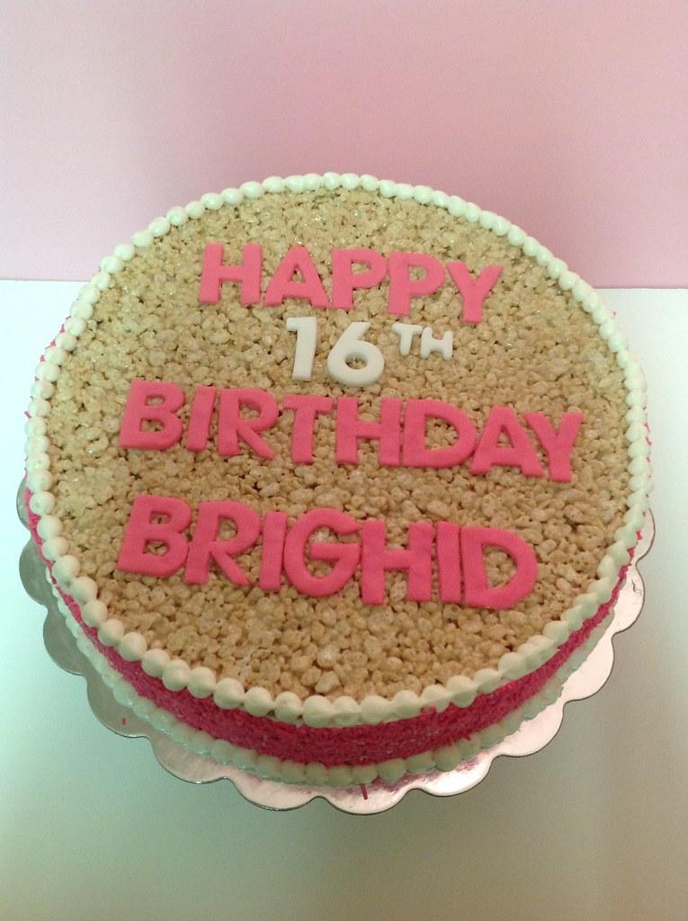 Cool Rice Krispie Birthday Cake Thesweetestbaker Com Flickr Funny Birthday Cards Online Elaedamsfinfo